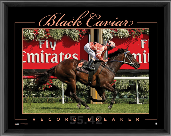 Black Caviar - Record Breaker Sports Print